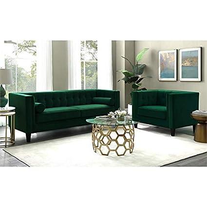 Posh Living Phoenix Velvet Button Tufted Sofa