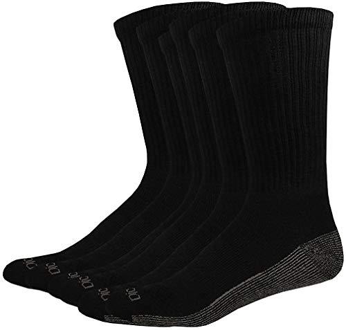 Dickies Men's Multi-Pack Dri-Tech Moisture Control Crew Socks, Black (6 Pair), Shoe Size: ()
