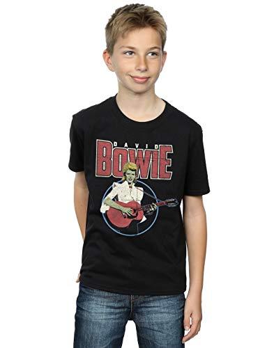 David Bowie Boys Acoustic Bootleg T-Shirt 5-6 Years Black