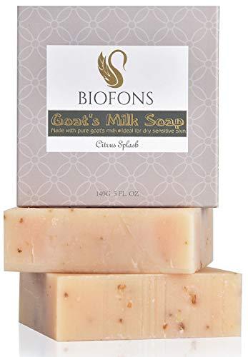 Coconut Citrus Cleanser - Handmade Goat Milk Soap Oatmeal & Coconut Oil Soap | Citrus 5 Oz. (2 Pack) | for Dry Skin, Sensitive Skin, Eczema