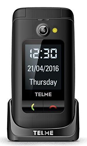 EMPORIA TELME X200 schwarz Grosstasten-Klapphandy mit Farbdisplay Aussendisplay Notruftaste VGA-Kamera 3 Kurzwahltasten