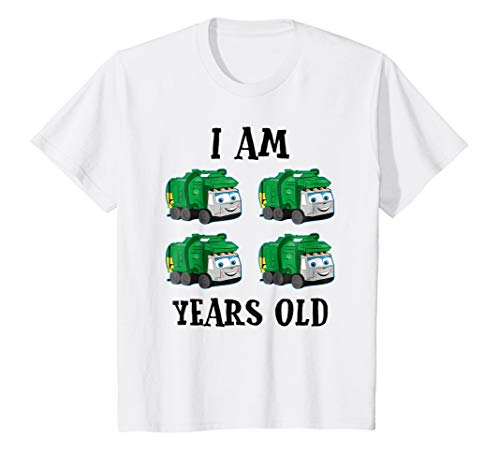 (Kids Garbage Trucks 4 Years Old Kids Birthday Party Costume)