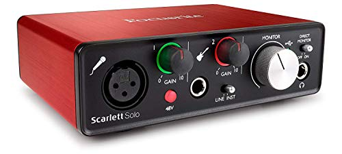Focusrite Scarlett Solo (2nd Gen) USB Audio Interface with Pro Tools   First