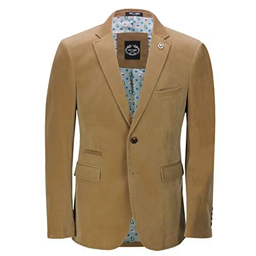 (Xposed Mens Soft Corduroy Blazer Coat Vintage Retro Tailored Suit Jacket UK[BLZ-MATTHEW-CREAM-36,Blazer-Tan,Chest UK/US 36 EU 46])