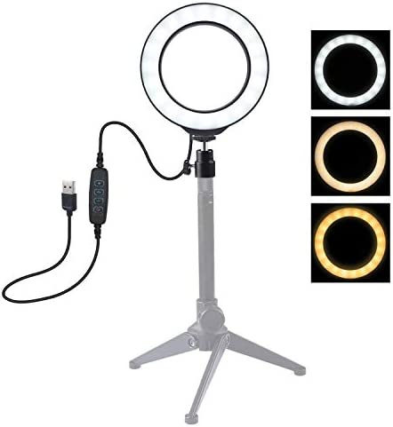 RONSHIN Hot USB 3 Modes Dimmable Led Ring Vlogging Photograp