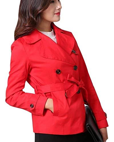 Cappotto Fashion Trench Giovane Saoye Inclusa Vento Tasche Rot Manica Giaccone Breasted Double Confortevole Eleganti Invernali Lunga Cintura Solidi Giacca Donna Colori Bavero Laterali HEEwdqf
