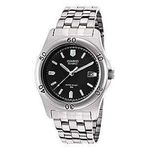 Casio-MTP - 1213A 1AVDF-Men's Watch Analogue Quartz Luminous hands Silver Stainless Steel Strap