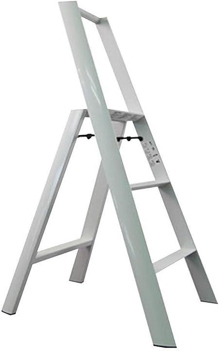Taburete de tres pasos, taburete plegable de estilo casero con empuñadura Escalera de aluminio Escalera de doble uso Taburete multifunción de flores creativo con pedales resistentes (Color : #3) : Amazon.es: Hogar
