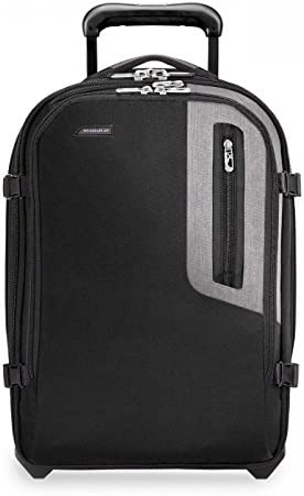 Briggs Riley BRX-Explore Softside Expandable Carry-On Upright Luggage, Black, 20-Inch