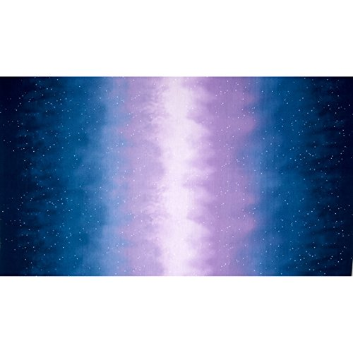 Enchanted Pines Sky Ombre Double Border Starry Night Fabric By The Yard