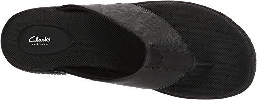 022d30e9025 Clarks Mens Vine Oak Sandal Noir Noir En Cuir - gardannealu.fr
