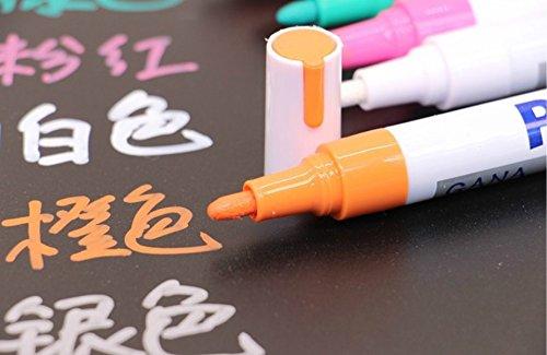 HNBGY Durevole Pennarello per lavagna bianca, cartoncino nero con pennarello indelebile a punta di proiettile (arancione)