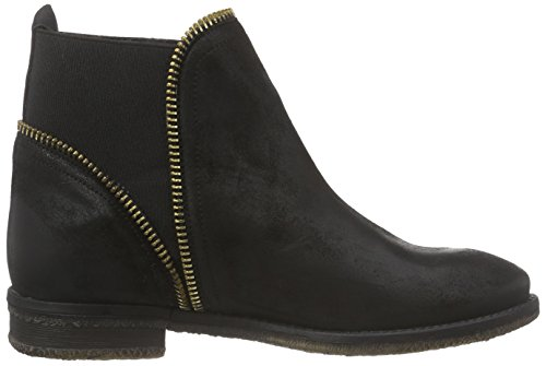 Inuovo Flossy Damen Chelsea Boots Schwarz (BLACK-BLACK ELASTIC)