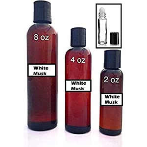 Pure White Musk - Uncut Scented Body Oil - Unisex Fragrance for Men and Women - Best for Refills (2 oz)