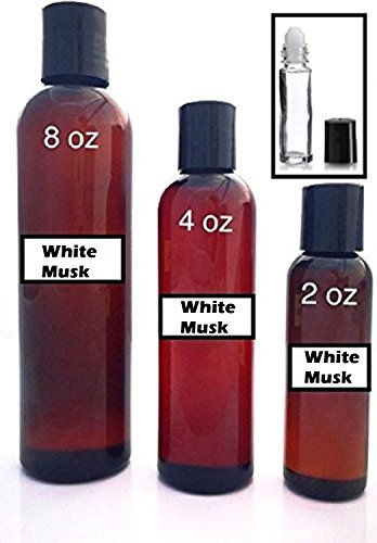 White Musk Scented Oil (Pure White Musk - Uncut Scented Body Oil - Unisex Fragrance for Men and Women - Best for Refills (8 oz))