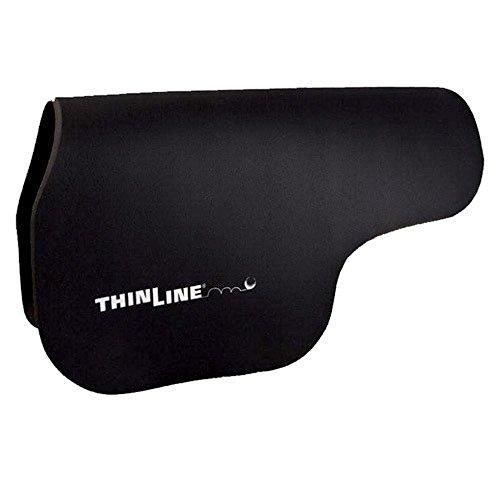 (ThinLine Contour Saddle Pad, Large, Black)