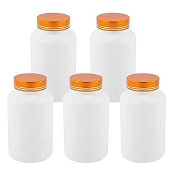 DealMux 5Pcs 300cc tampa de metal de plástico vazias Garrafas cápsula do comprimido produtos saudáveis ?