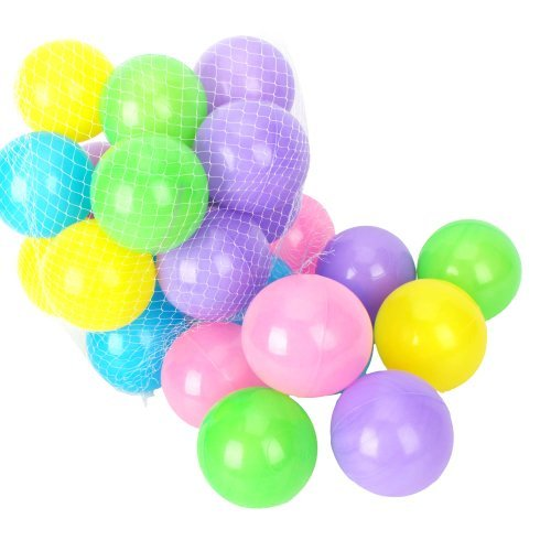 Yiwa 50 Pcs Colorful Soft Plastic Ocean Fun Balls Baby Kids Tent Swim Pit Toys Game Gift 2.76` (random colors)