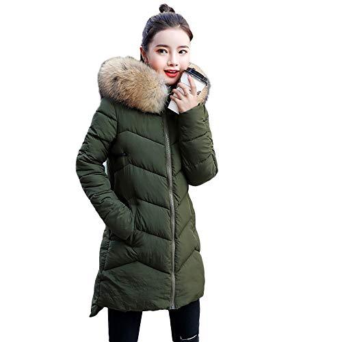 DaySeventh Women Outerwear Fur Hooded Coat Long Cotton-Padded Zipper Jackets Pocket Coats from DaySeventh