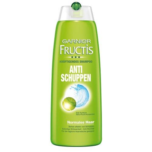 Garnier Fructis Kräftigendes Anti Schuppen Shampoo / Intensive Haarpflege für die Bekämpfung von Schuppen und juckender Kopfhaut (mit Zink Pyrithion und Aktiv-Frucht-Konzentrat) für normales Haar, 6er Pack - 250ml