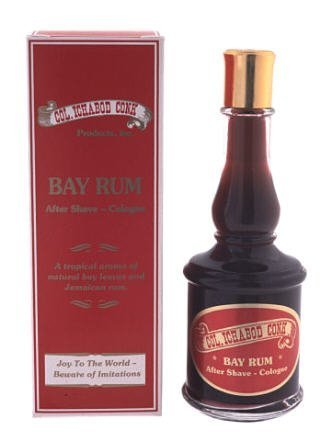 Colonel Ichabod Conk Bay Rum After Shave Cologne 4 Fl. Oz. Glass Bottle
