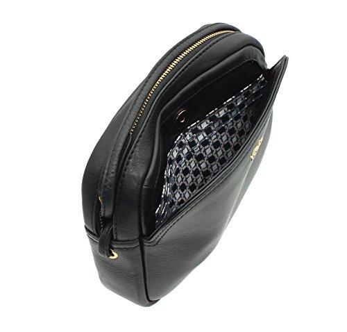 ORIGINALES de NAPPA Tula Zip cuero superior hombro/Cross Body bolso 8385 negro negro
