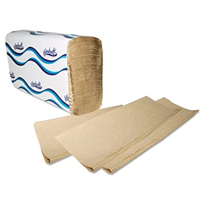 Windsoft 1040 Multifold Paper Towels, 1-Ply, 9 1/5 x 9 2/5, Natural, 250 per Pack (Case of 16)