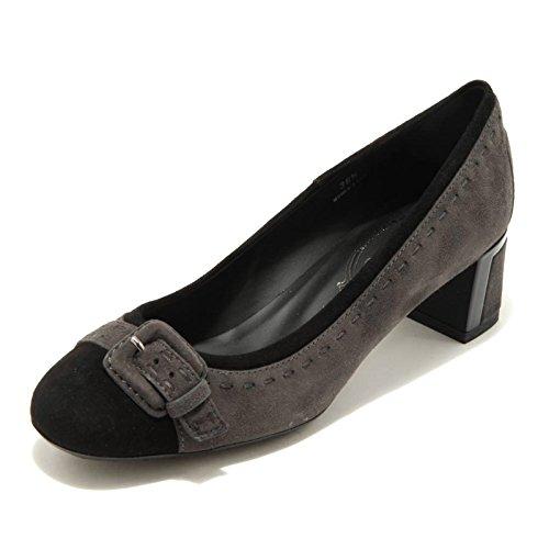 PT Decollete Grigio Grigio T Donna Nero Tod's Fibbia Shoes 50 Scarpa 1718G Gomma Women Nero 5q604t