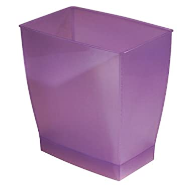 InterDesign Mono Wastebasket Trash Can for Bathroom, Kitchen, Office - Chianti Purple