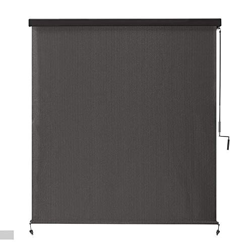 Roller Shade Coolaroo Montecito Cordless HDPE 95% UV Block Exterior with Full Cassette – 72 in. W x 96 in. L