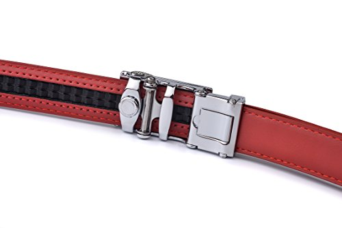 Autolock Women's Dress Leather Belt with Small Buckle Wide 1 1/8 Inch for Ladies