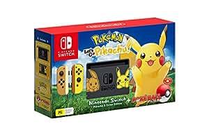 Nintendo Switch Pikachu & Eevee Edition + Pokemon Let's Go Pikachu! + Pokeball Plus