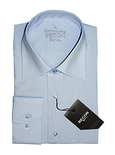 Herrenhemd, extralanger Arm, hellblau, Wallstreet-Kragen