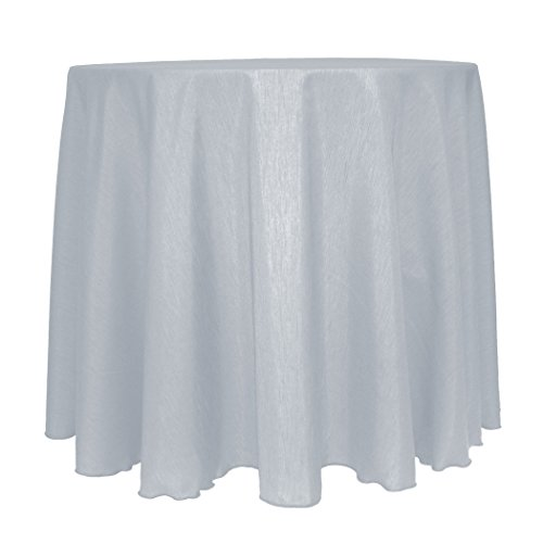 - Ultimate Textile Reversible Shantung Satin - Majestic 120-Inch Round Tablecloth Silver