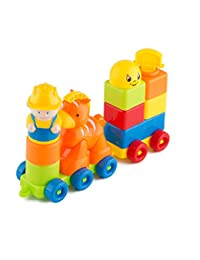 Blocks ShowTop 12 Pieces Building Blocks Children Builders with Storage Bag Orange Trojan BOBEBE Online Baby Store From New York to Miami and Los Angeles