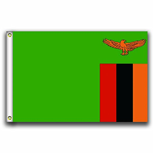 MCCOCO Zambia Flags Banner 3X5FT-90X150CM 100% Polyester,Can