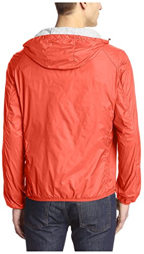 Save The Duck Men's Hooded Lightweight Jacket, Love Red, M by Save The Duck (Image #2)
