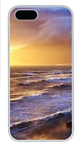 iPhone 5S Cases & Covers - Stormy Sunset Custom PC Hard Case Cover for iPhone 5/5S šC White