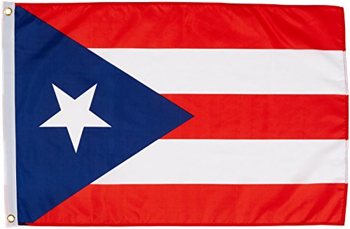 Quality Standard Flags Puerto Rico Polyester Flag, 2 by 3'