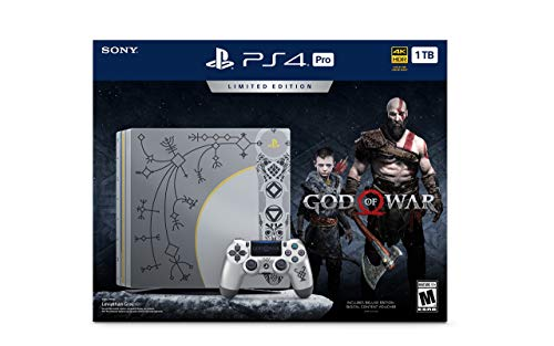 PlayStation 4 Pro 1TB Limited Edition Console – God of War Bundle [Discontinued] (Renewed)