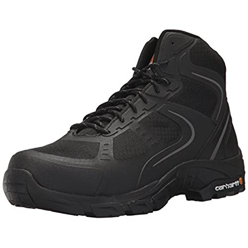Carhartt Men's Lightweight Hiker 6-Inch Black FastDry Technology- Steel Toe - CMH4251