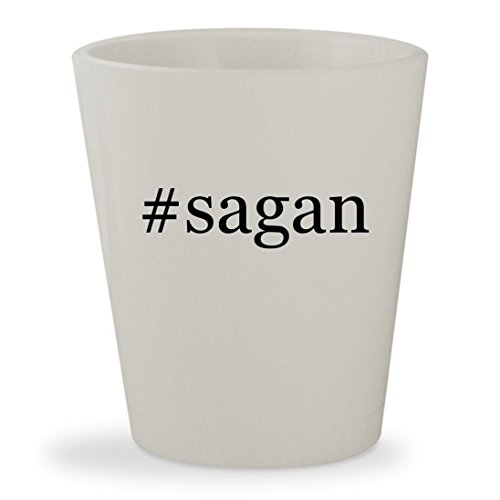 #sagan - White Hashtag Ceramic 1.5oz Shot Glass