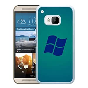 New Beautiful Custom Designed Cover Case For HTC ONE M9 With Microsoft Windows Blue Logo (2) Phone Case