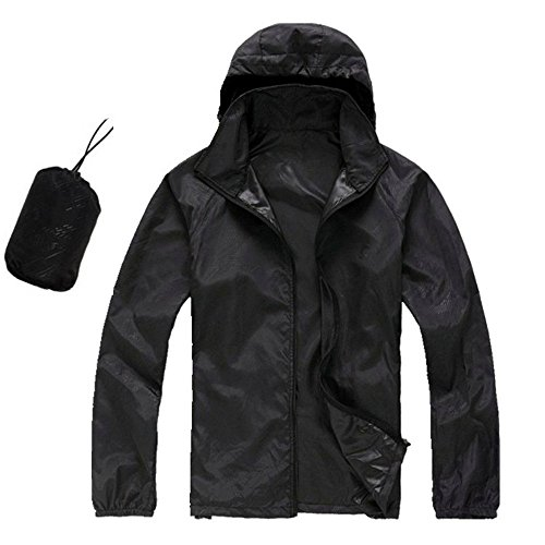 CN-Porter Women Waterproof Hooded Raincoat Active Outdoor Lightweight Packable Rain Coat Jacket