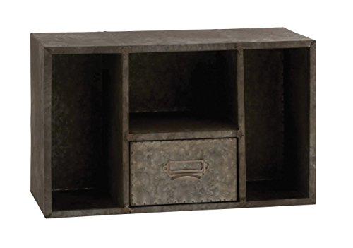 Review Benzara 97185 Attractive and Rusty Styled Square Wall Shelf By Benzara by Benzara