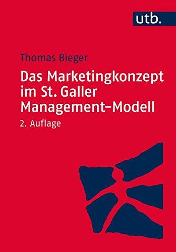Das Marketingkonzept im St. Galler Management-Modell Taschenbuch – 16. September 2015 Thomas Bieger UTB GmbH 3825244636 Wirtschaft / Werbung