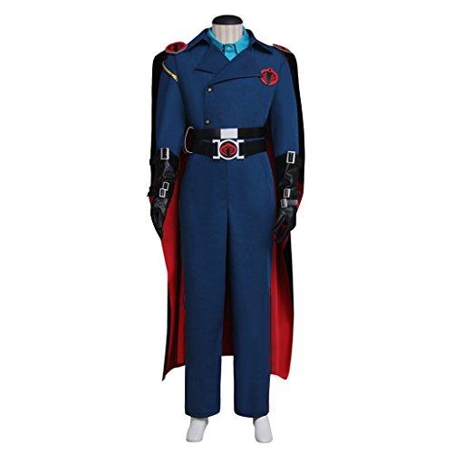 Expeke Mens Uniform Cosplay Handmade Suit Costume for Halloween (Men XL, Cobra Set) -