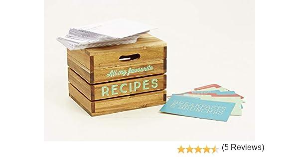 Jamie Oliver 553476 - Caja de recetas, madera: Amazon.es: Hogar