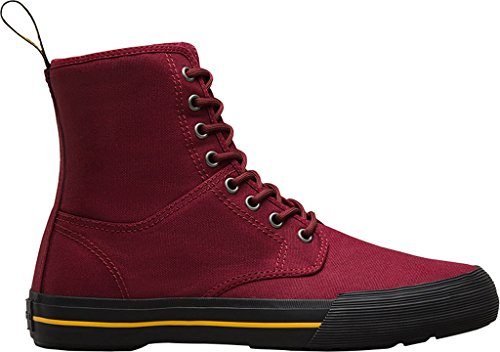 Dr. Martens Hombres Winsted Chukka Bota Cherry Red Canvas