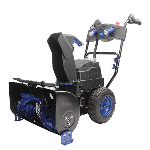 Snow Joe ION8024-XRP Cordless Two Stage Snow Blower | 24-Inch | 80 Volt | 2 x 6 Ah Batteries | 4-Speed | Headlights